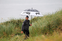 Matt Wallace (ENG) walking off the 7th tee during the 3rd round of the Dubai Duty Free Irish Open, Lahinch Golf Club, Lahinch, Co. Clare, Ireland. 06/07/2019<br /> Picture: Golffile | Thos Caffrey<br /> <br /> <br /> All photo usage must carry mandatory copyright credit (© Golffile | Thos Caffrey)