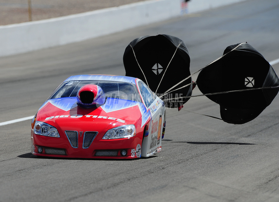 Apr. 2, 2011; Las Vegas, NV, USA: NHRA pro stock driver Shane Gray during qualifying for the Summitracing.com Nationals at The Strip in Las Vegas. Mandatory Credit: Mark J. Rebilas-