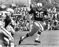 Oakland Raiders Clem Daniels runing against the Kansas City Chiefs...at old Frank Youell Field in downtown Oakland.(1965 photo/Ron Riesterer)