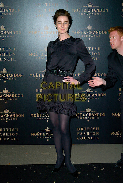 ERIN O'CONNOR.The Moet & Chandon Champagne Mirage party, Opera Holland Park, London, England..September 16th, 2007.full length black tights dress belt hand on hip.CAP/CAN.©Can Nguyen/Capital Pictures