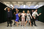 Kerry Butler with the ensemble cast during the 'Clinton The Musical' - Sneak Peek at Ripley Grier Studios on March 4, 2015 in New York City.