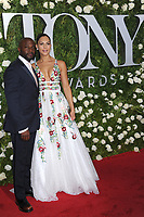 www.acepixs.com<br /> June 11, 2017  New York City<br /> <br /> Taye Diggs and Amanza Smith Brown attending the 71st Annual Tony Awards arrivals on June 11, 2017 in New York City.<br /> <br /> Credit: Kristin Callahan/ACE Pictures<br /> <br /> <br /> Tel: 646 769 0430<br /> Email: info@acepixs.com
