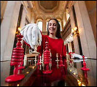 BNPS.co.uk (01202 558833)<br /> Pic: PhilYeomans/BNPS<br /> <br /> Nice Move...A historic chess set belonging to the Duke's of Marlborough has been brought out ahead of the Womens chess championships starting at Blenheim Palace this week.<br /> <br /> The country's finest young female chess players are set to battle for supremacy in the regal surroundings of the Oxfordshire stately home. <br /> <br /> It is hosting the English Chess Federation Junior Female Championships, with over 100 competitors due to take part.<br /> <br /> The palace, in Woodstock, Oxon, which is Sir Winston Churchill's birthplace, has a long and illustrious connection with the game of chess. <br /> <br /> In 1851, the 5th Duke of Marlborough was president of the first ever international chess tournament which took place in London.<br /> <br /> Lord Randolph Churchill, father of Sir Winston, was also one of the founders of the Oxford University Chess Club and vice-president of the British Chess Association.<br /> <br /> And Sir Winston himself is also said to have been a keen chess player during the Blitz in World War Two.