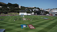 A general view as Tom Latham and Tom Blundell open for NZ's second innings during day four of the International Test Cricket match between the New Zealand Black Caps and India at the Basin Reserve in Wellington, New Zealand on Monday, 24 February 2020. Photo: Dave Lintott / lintottphoto.co.nz