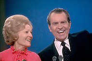 President Richard Nixon and his wife Pat. A break in at the Democratic National Committee headquarters at the Watergate complex on June 17, 1972 results in one of the biggest political scandals the US government has ever seen. Effects of the scandal ultimately led to the resignation of President Richard Nixon, on August 9, 1974, the first and only resignation of any U.S. President.