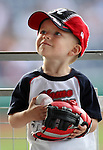 A young fan waits for the start of the Reno Aces game Thursday, June 16, 2011, in Reno, Nev..Photo by Cathleen Allison