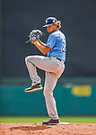 14 March 2016: Tampa Bay Rays pitcher Chris Archer on the mound during a pre-season Spring Training game against the Atlanta Braves at Champion Stadium in the ESPN Wide World of Sports Complex in Kissimmee, Florida. The Ray fell to the Braves 5-0 in Grapefruit League play. Mandatory Credit: Ed Wolfstein Photo *** RAW (NEF) Image File Available ***
