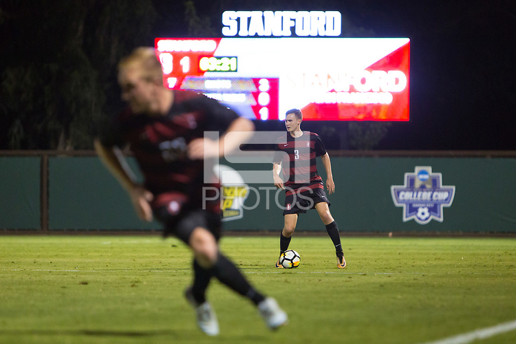STANFORD, CA - September 15, 2017: Tanner Beason at Cagan Stadium. The Stanford Cardinal defeated the University of San Francisco 1-0.