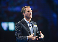 NWA Democrat-Gazette/CHARLIE KAIJO President and CEO, Walmart Doug McMillon speaks during the Walmart shareholders meeting, Friday, June 7, 2019 at the Bud Walton Arena in Fayetteville.
