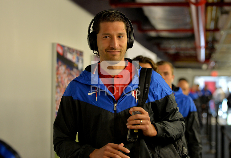 Harrison, N.J. - Friday September 01, 2017: Omar Gonzalez during a 2017 FIFA World Cup Qualifying (WCQ) round match between the men's national teams of the United States (USA) and Costa Rica (CRC) at Red Bull Arena.