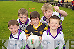Enda Cahill, Conor Kavanagh, Matthew Browne, Joe Riedy and Donal O'Sullivan pictured at the GAA Summer camp at Austin Stacks Club, Connolly Park Tralee on Friday.