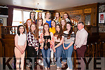 Munster Schools  U18 ladies Rugby Champions from Coláiste Ide agus Iosef Abbeyfeale pictured last Saturday night  during their celebratory  evening in Leen's Hotel.
