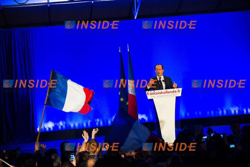 Francois Hollande nuovo Presidente della Repubblica Francese..06/05/2012 Tulle.Foto Insidefoto / Florent Dupuy / Panoramic..Only Italy