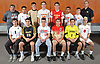 The 2017 Newsday All-Long Island boys soccer team poses for a group portrait at company headquarters on Monday, Dec. 11, 2017. Appearing are, FRONT ROW, FROM LEFT: CJ Emmerich of Syosset, Matt Barresi of St. Anthony's, Ben Hamilton of Center Moriches, Leo Musacchia of Half Hollow Hills West, Rob Leamey of St. Anthony's and Giancarlo Vacca of Plainedge. BACK ROW, FROM LEFT: Coach Chris O'Brien of Center Moriches, Oscar Hernandez of Amityville, Tyler McElhinney of Jericho, Tim de Meij of Chaminade, John C. Murphy of Chaminade, Eric Amaya of Center Moriches, Matt Barbery of Half Hollow Hills East and Coach Paul Cutter of Garden City.