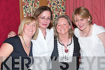 Enjoying a night out at Kirby's Lanterns Hotel on Saturday were Heather Leonard and Anne Lenihan, Newcastlewest, Marie Sallepher, castle Connell, and Sheila McCeanaghan, Newcastlewest.   Copyright Kerry's Eye 2008