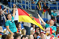 Deutsche Fans im peruanischen Block - 09.09.2018: Deutschland vs. Peru, Wirsol Arena Sinsheim, Freundschaftsspiel DISCLAIMER: DFB regulations prohibit any use of photographs as image sequences and/or quasi-video.