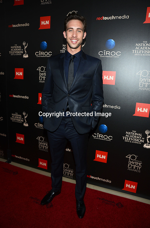 Blake Berris attends The 40th Annual Daytime Emmy Awards on<br />  June 16, 2013 at the Beverly Hilton Hotel in Beverly Hills, California. <br /> photo by Robin Platzer/ Twin Images<br /> <br /> 212-935-0770