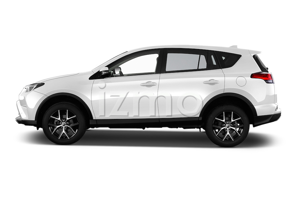 Car Driver side profile view of a 2016 Toyota RAV4 Style 5 Door SUV Side View