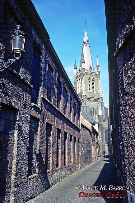 Alleyway & Church In Brugge