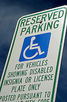 AJ Alexander - Reserved Parking sign for the handicap..Photo By AJ Alexander