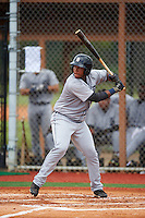 GCL Tigers West third baseman Randel Alcantara (25) at bat during a game against the GCL Tigers East on August 4, 2016 at Tigertown in Lakeland, Florida.  GCL Tigers West defeated GCL Tigers East 7-3.  (Mike Janes/Four Seam Images)