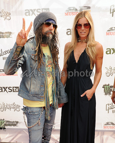 22 July 2015 - Cleveland, Ohio - Musician Rob Zombie and his wife Sheri Moon Zombie attend the 2015 Alternative Press Music Awards held at Quicken Loans Arena. Photo Credit: Jason L Nelson/AdMedia