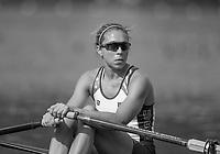 Rio de Janeiro. BRAZIL.  USA W1X, Gevvie STONE, at the start. 2016 Olympic Rowing Regatta. Lagoa Stadium,<br /> Copacabana,  &ldquo;Olympic Summer Games&rdquo;<br /> Rodrigo de Freitas Lagoon, Lagoa. Local Time 09:34:20   Saturday  06/08/2016 <br /> <br /> [Mandatory Credit; Peter SPURRIER/Intersport Images]
