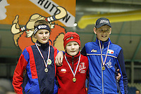 SCHAATSEN: HEERENVEEN: IJsstadion Thialf, 04-03-2005, VikingRace, Thomas Krol (NED), Sverre Lunde Pedersen (NOR), Kevin Huber (ITA), ©foto Martin de Jong