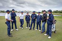 Auckland team mates and coaches after their semi final win. Toro Men's  Interprovincial Golf Championship, Clearwater Golf Course, Christchurch, New Zealand, Friday 30 November. photo: Martin Hunter/www.bwmedia.co.nz