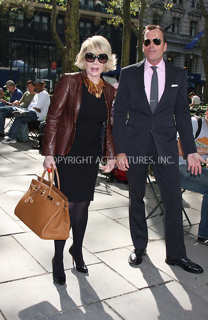 WWW.ACEPIXS.COM . . . . .  ....September 15 2009, New York City....Joan Rivers seen in Bryant Park during Mercedes-Benz Fashion Week on September 15, 2009 in New York City....Please byline: AJ Sokalner - ACEPIXS.COM..... *** ***..Ace Pictures, Inc:  ..tel: (212) 243 8787..e-mail: info@acepixs.com..web: http://www.acepixs.com