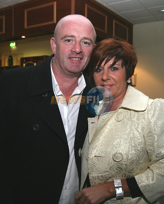 "Donal Tracey and Valerie Gibson at ""Who Wants to be a Thousandaire"" in aid of Le Cheile School at the Boyne Valley Hotel...Photo NEWSFILE/Jenny Matthews.(Photo credit should read Jenny Matthews/NEWSFILE)....This Picture has been sent you under the condtions enclosed by:.Newsfile Ltd..The Studio,.Millmount Abbey,.Drogheda,.Co Meath..Ireland..Tel: +353(0)41-9871240.Fax: +353(0)41-9871260.GSM: +353(0)86-2500958.email: pictures@newsfile.ie.www.newsfile.ie.FTP: 193.120.102.198."