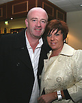 """Donal Tracey and Valerie Gibson at """"Who Wants to be a Thousandaire"""" in aid of Le Cheile School at the Boyne Valley Hotel...Photo NEWSFILE/Jenny Matthews.(Photo credit should read Jenny Matthews/NEWSFILE)....This Picture has been sent you under the condtions enclosed by:.Newsfile Ltd..The Studio,.Millmount Abbey,.Drogheda,.Co Meath..Ireland..Tel: +353(0)41-9871240.Fax: +353(0)41-9871260.GSM: +353(0)86-2500958.email: pictures@newsfile.ie.www.newsfile.ie.FTP: 193.120.102.198."""