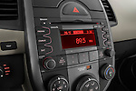 Stereo audio system close up detail view of a 2010 Kia Soul!