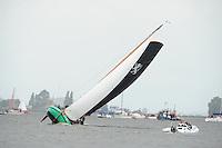 SKUTSJESILEN: WOUDSEND: Hegemer Mar, 06-08-2012, SKS skûtsjesilen, wedstrijd Woudsend, Rienk Ulbesz, skûtsje Leeuwarden, ©foto Martin de Jong