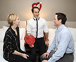 """Megan Pickrell,  Jordan Sobel and Patrick Cummings during a photo shoot for """"Fiercely Independent"""" at the Hilton Garden Inn on February 12, 2019 in New York City."""