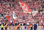 14.04.2018, OLympiastadion, Berlin, GER, 1.FBL, Hertha BSC VS. 1.FC Koeln, im Bild <br /> Koelner-Fanblock , Fahnen<br /> <br /> <br />       <br /> Foto &copy; nordphoto / Engler