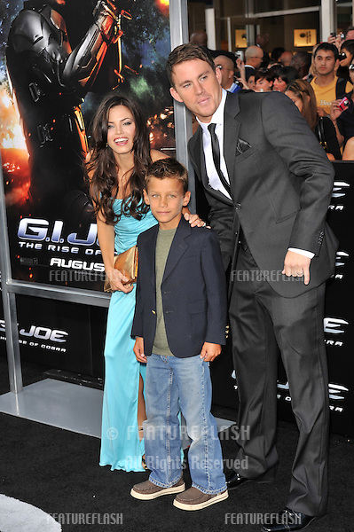 "Channing Tatum & new wife Jenna Dewan & her brother Dane at the Los Angeles premiere of his new movie ""G.I. Joe: The Rise of Cobra"" at Grauman's Chinese Theatre, Hollywood..August 6, 2009  Los Angeles, CA.Picture: Paul Smith / Featureflash"