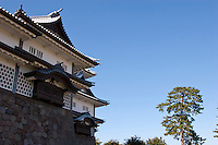 A tower in the rebuilt Kanazawa Castle, Kanazawa, Japan Wednesday October 15th 2008