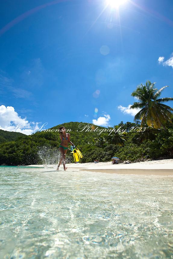 Joie at Hawksnest Beach<br /> Virgin Islands National Park<br /> St. John<br /> U.S. Virgin Islands