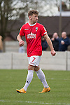 © Joel Goodman - 07973 332324 . 25/04/2015 . Salford , UK . Jordan Hulme . Evostick League champions , Salford FC , play Osset Town , in Salford . Photo credit : Joel Goodman