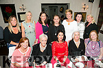 Ann Kahraman from Ballyheigue enjoying a birthday dinner with friends on Saturday night at Cassidy's. Front l-r  Fiona O'Connor, Jill Hannon, Ann Kahraman, Orla Winters, l-r  Sheila O'Sullivan, Norma Dunne, Marie Loughran, Sherina O'Sullivan, Olivia Wall, Rebekah Wall and Mandy O'Connor