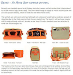 Review - No More Ugly camera satchels<br />