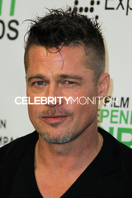 SANTA MONICA, CA, USA - MARCH 01: Brad Pitt in the press room during the 2014 Film Independent Spirit Awards held at Santa Monica Beach on March 1, 2014 in Santa Monica, California, United States. (Photo by Xavier Collin/Celebrity Monitor)