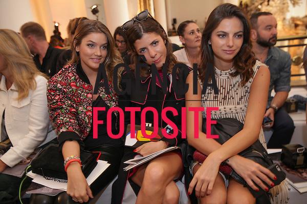 Marcela Tranchesi, Maria Sol&eacute; e Kelly Fitipald<br /> <br /> <br /> Reinaldo Louren&ccedil;o<br /> <br /> S&atilde;o Paulo Fashion Week- Ver&atilde;o 2016<br /> Abril/2015<br /> <br /> foto: Midori de Lucca/ Ag&ecirc;ncia Fotosite