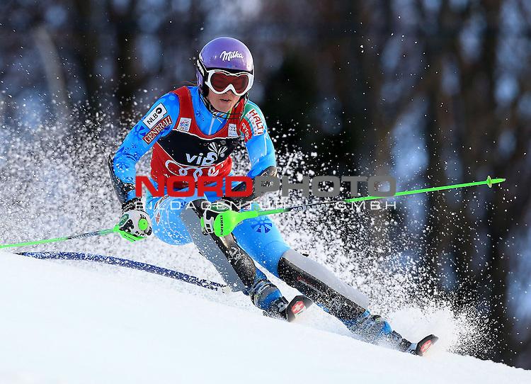 04.01.2013., Sljeme, Zagreb - Ladies Slalom race  &quot;Vip Snow Queen Trophy&quot; Zagreb-Sljeme 2013.<br /> Veronika Velez Zuzulova. <br /> <br /> Foto &copy;  nph / PIXSELL / Jurica Galoic