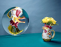 VASE REFLECTED IN CONCAVE (PARABOLIC) MIRROR (1 of 2)<br />