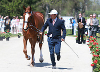 LEXINGTON, KY - April 26, 2017. #66 Mr. Medicott and Phillip Dutton from the USA at the Rolex Three Day Event First Horse Inspection at the Kentucky Horse Park.  Lexington, Kentucky. (Photo by Candice Chavez/Eclipse Sportswire/Getty Images)