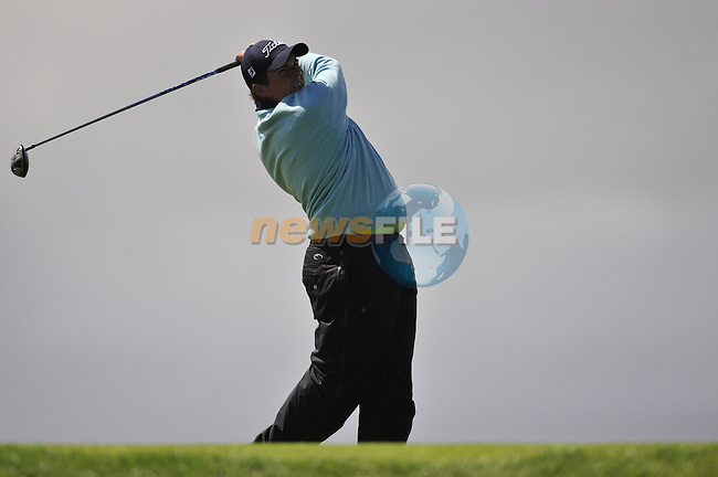 Shane Lowry drives off on the 6th hole during the Final Round of the 3 Irish Open on 17th May 2009 (Photo by Eoin Clarke/GOLFFILE)