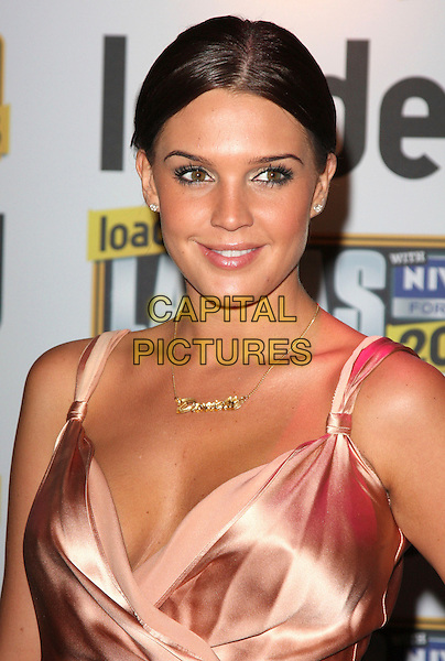 DANIELLE LLOYD .Loaded Laftas Comedy Awards held at the Cuckoo Club, London, England, October 2nd 2008..portrait headshot gold necklace brunette hair .CAP/ROS.©Steve Ross/Capital Pictures