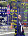 May 7, 2013, Tokyo, Japan - The Japanese yen gains against all its 16 most-traded currencies on the Tokyo foreign exchange market on Tuesday, May 7, 2013. The U.S. dollar was traded in the lower 99-yen mark.  (Photo by Natsuki Sakai/AFLO)